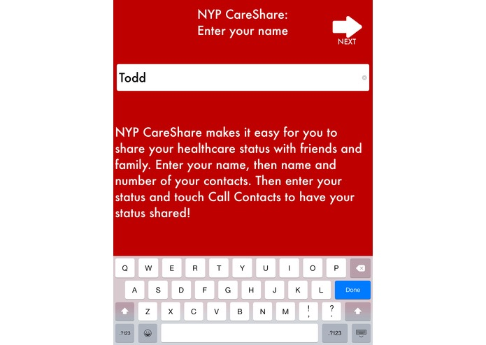 CareShare: Share Healthcare updates w/ your contacts! – screenshot 3