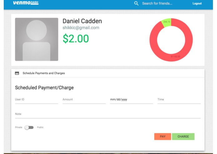 Venmo Dash – screenshot 1