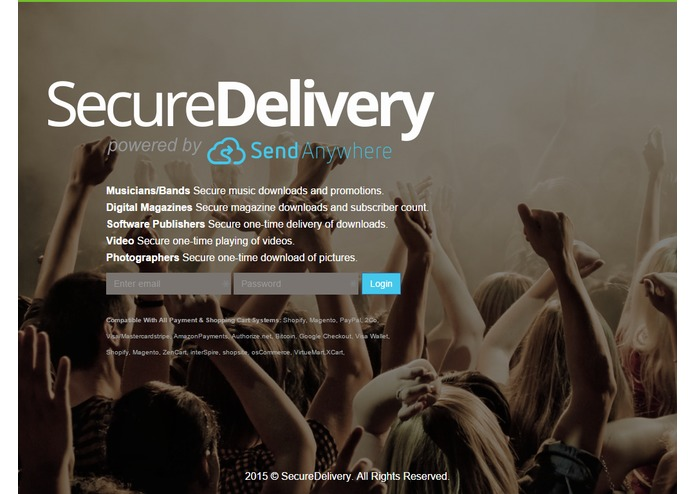 SecureDelivery powered by Send-Anywhere – screenshot 1