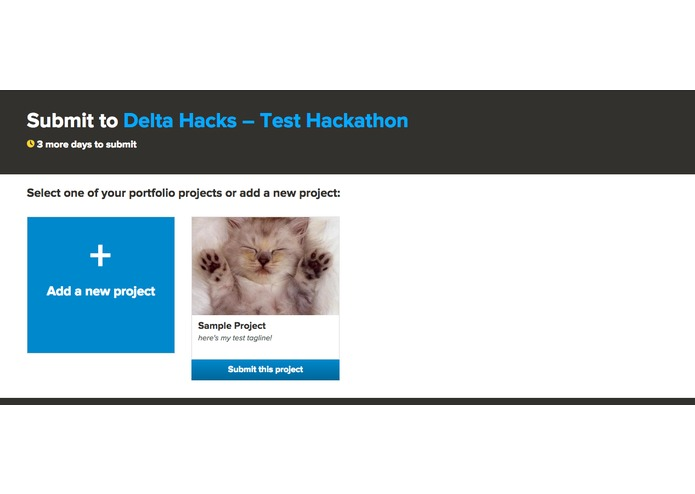 Hackathon Submission Flow – screenshot 1