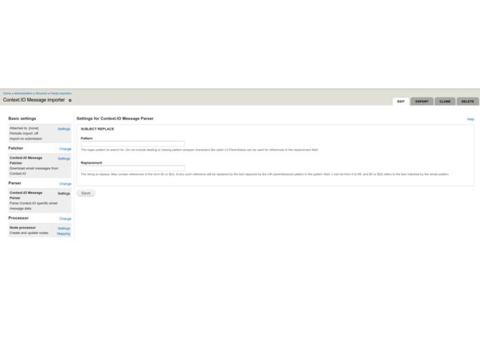 Context.IO for Drupal & Maildispenser.com – screenshot 3