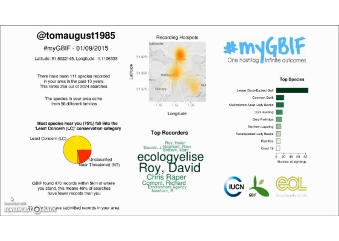 #myGBIF – screenshot 5