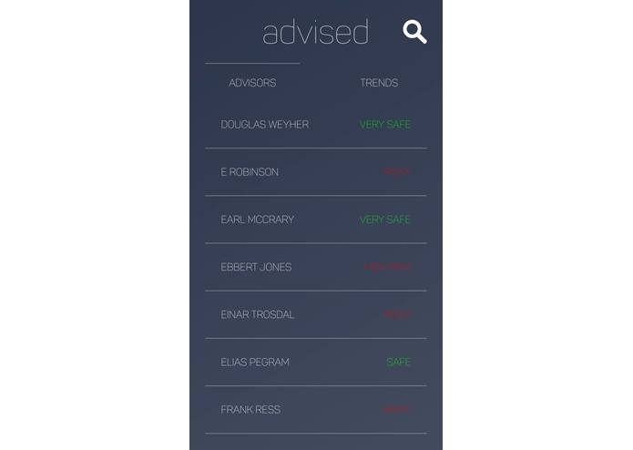 Advised – screenshot 1
