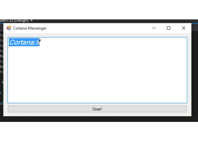 Cortana Messenger – screenshot 1
