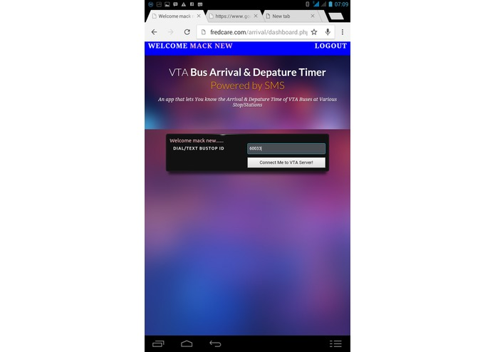 VTA Bus Arrival and Depature Timer Powered by SMS – screenshot 2