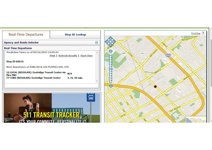 VTA Bus Arrival and Depature Timer Powered by SMS – screenshot 4
