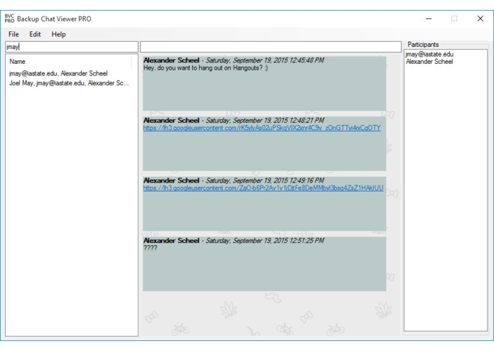Backup Chat Viewer – screenshot 2