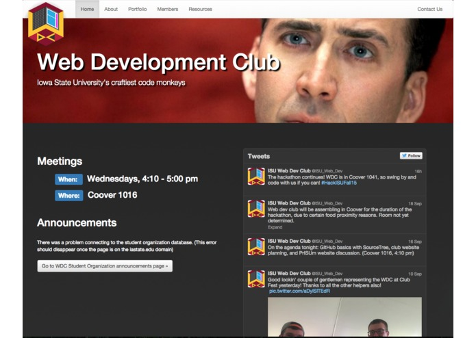 Web Development Club Website – screenshot 1