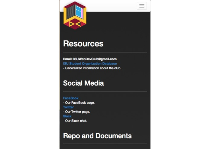 Web Development Club Website – screenshot 2