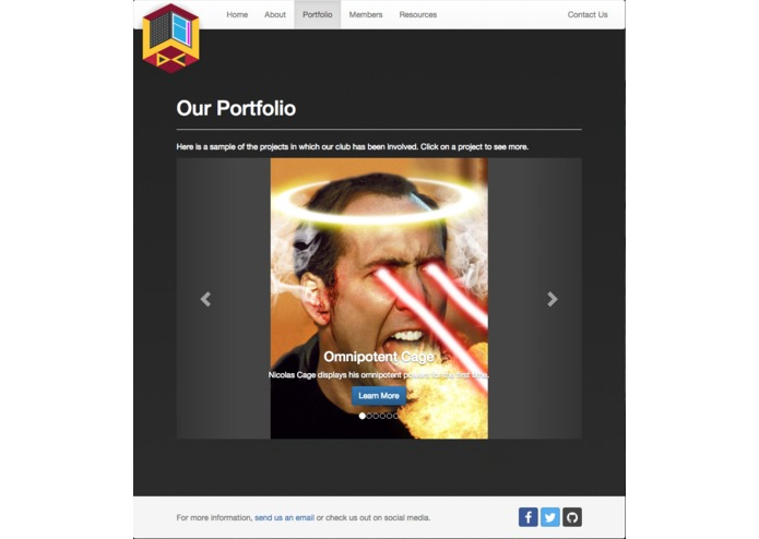 Web Development Club Website – screenshot 3