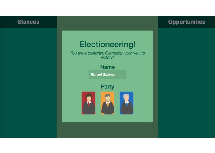 Electioneering - The Game – screenshot 1