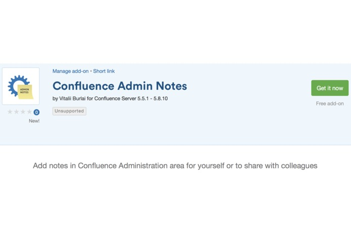 Confluence Admin Notes – screenshot 1