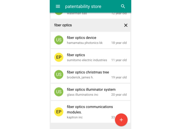 patentability – screenshot 1