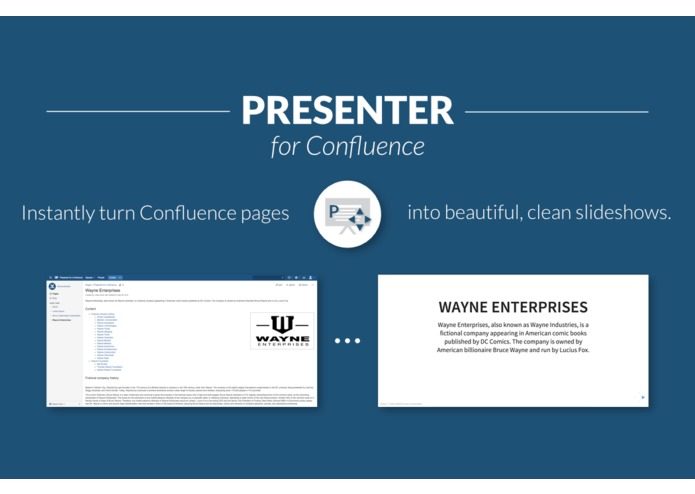 Presenter for Confluence – screenshot 1