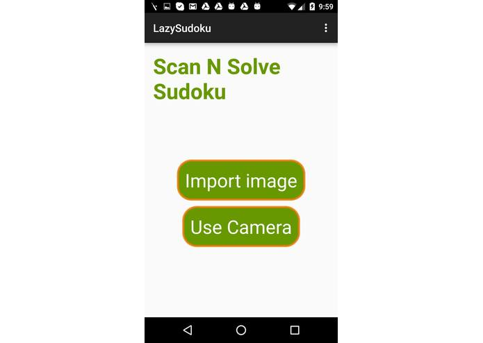 Scan-N-Solve Sudoku – screenshot 1