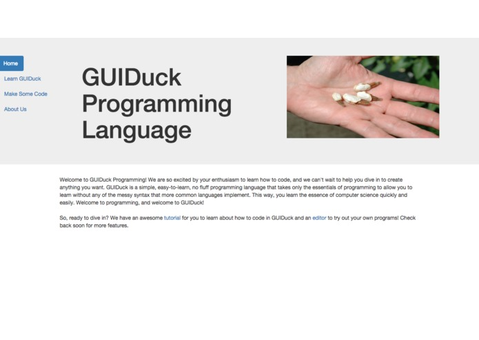 GUIDuck Programming Language – screenshot 2