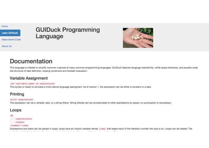 GUIDuck Programming Language – screenshot 3