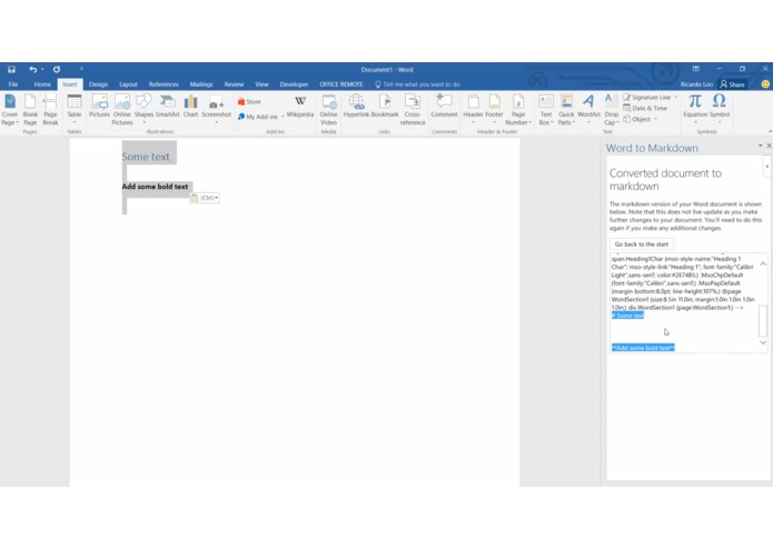 Word to Markdown – screenshot 1