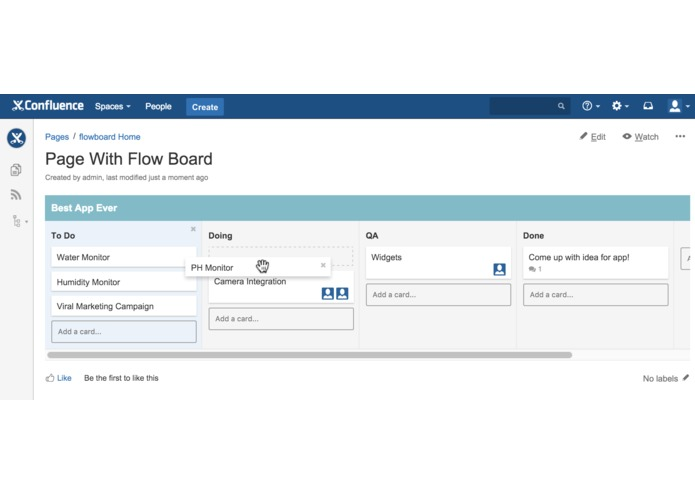 Flow Board for Confluence – screenshot 1
