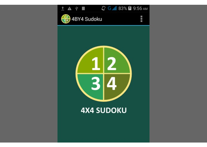 4BY4 Sudoku – screenshot 1