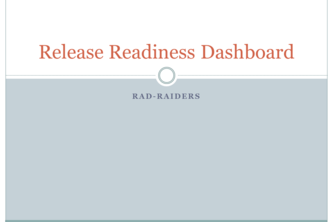 Release Readiness Web Service + Dashboard