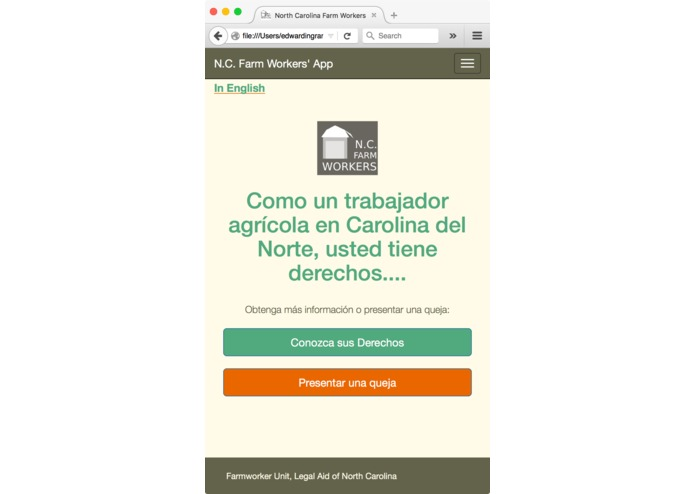 NC Farmworkers' App – screenshot 1