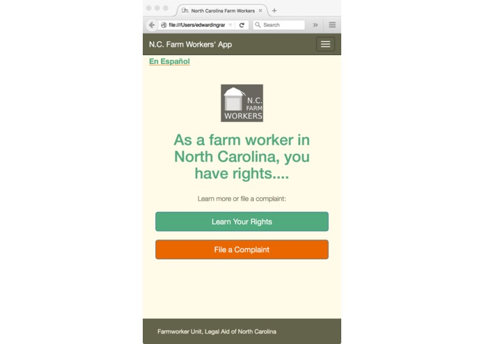 NC Farmworkers' App – screenshot 2