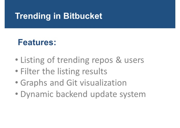 Trending in BitBucket – screenshot 3