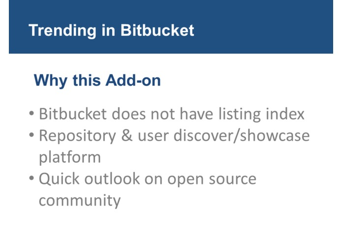 Trending in BitBucket – screenshot 4