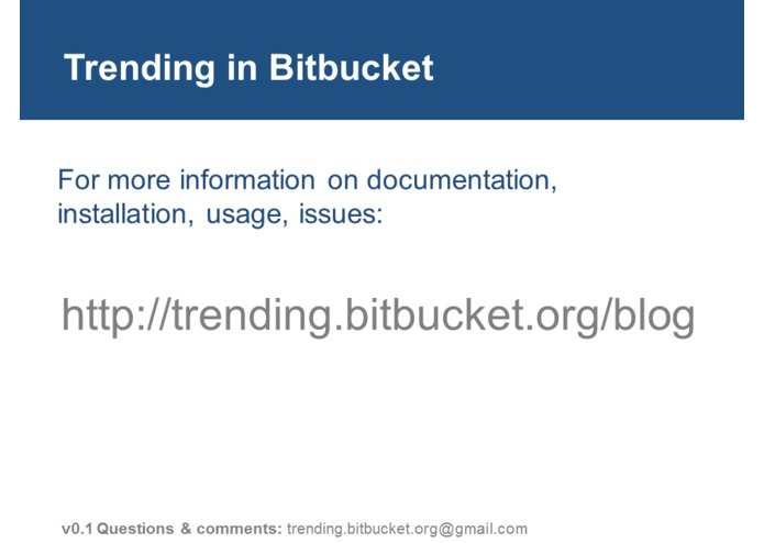 Trending in BitBucket – screenshot 9