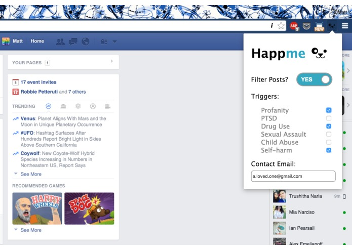 Happme – screenshot 1