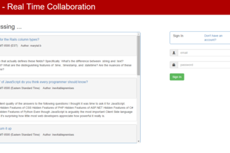 Overflowing - Real Time Collaboration