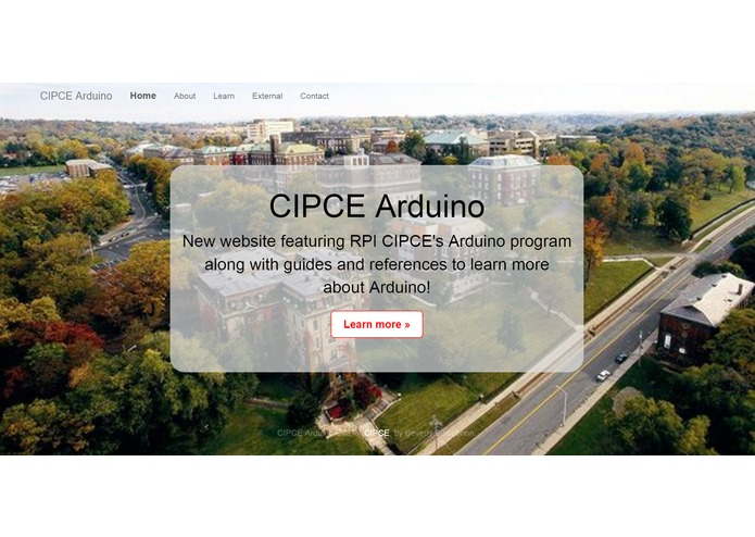 RPI CIPCE Website for Arduino Program – screenshot 3