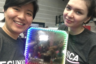 Voice Activated Infinity Mirror