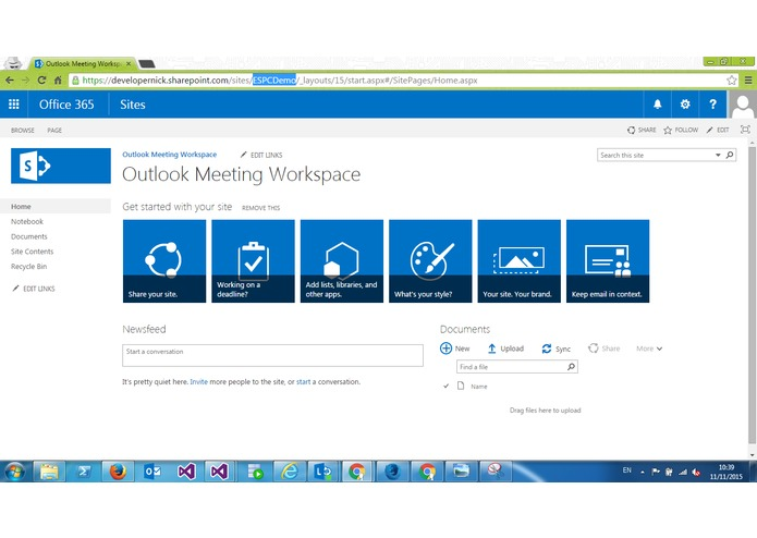 Outlook Meeting Workspace Add-in – screenshot 5