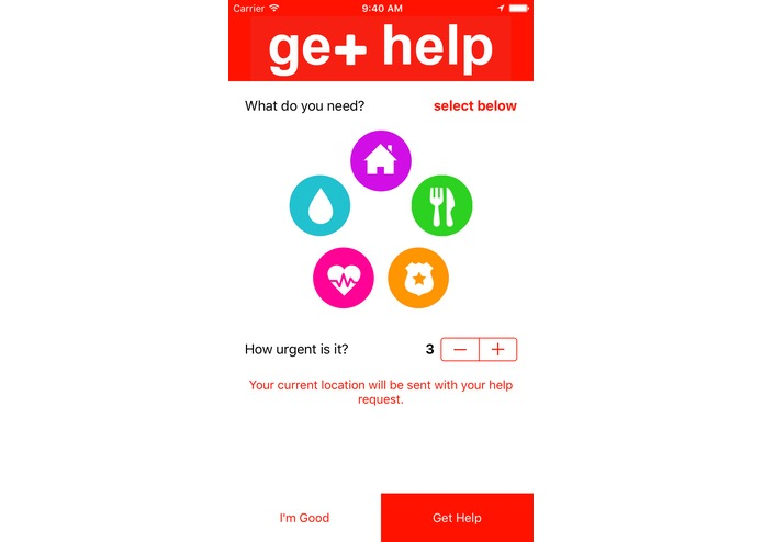Help App for Disaster Relief – screenshot 2