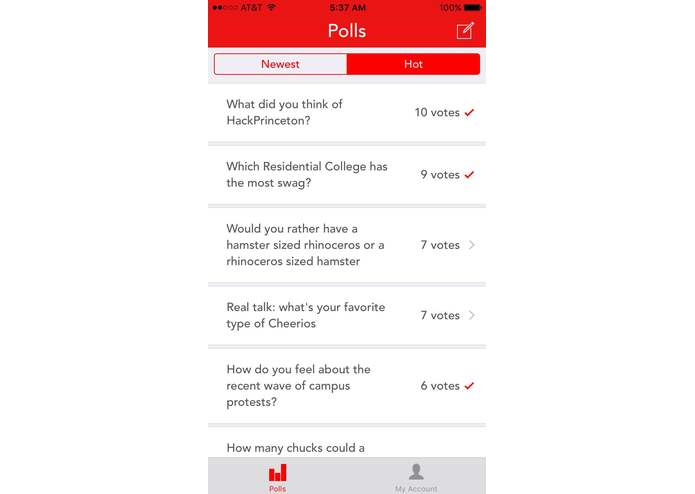 PollMe! – screenshot 1