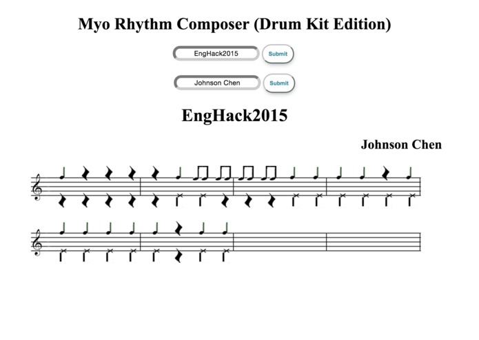 Myo Rhythm Composer (Drum Kit Edition) – screenshot 1