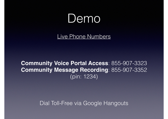 Community Voice Portal – screenshot 11
