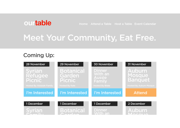 OurTable – screenshot 1