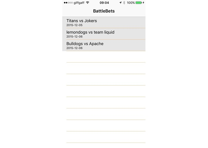 BattleBets – screenshot 1