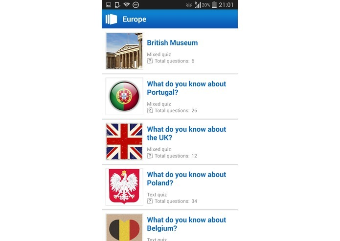 Connected quizzes - Europe – screenshot 2