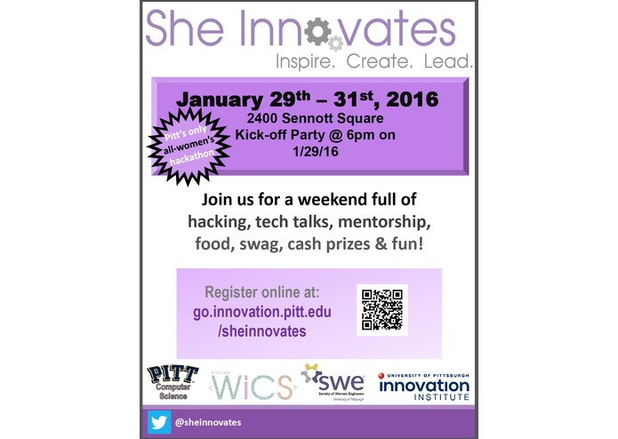 Co-Chair for She Innovates Women's Hackathon – screenshot 1