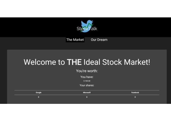 StockTalk: The (not so) Ideal Stock Market – screenshot 1