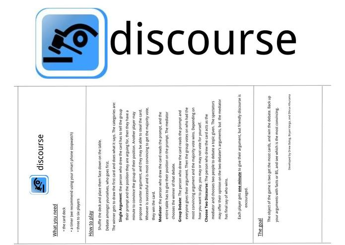 discourse – screenshot 1