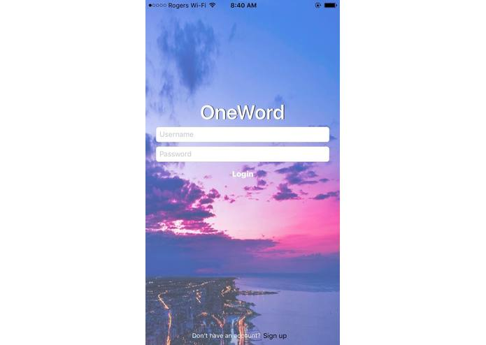 OneWord – screenshot 1