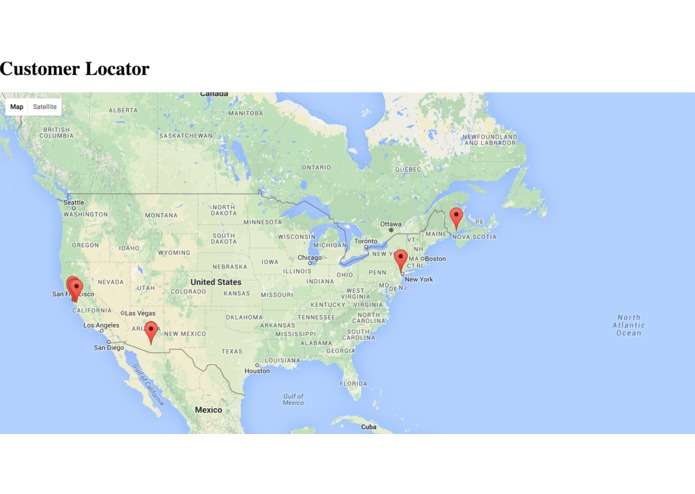 Customer Locator – screenshot 1