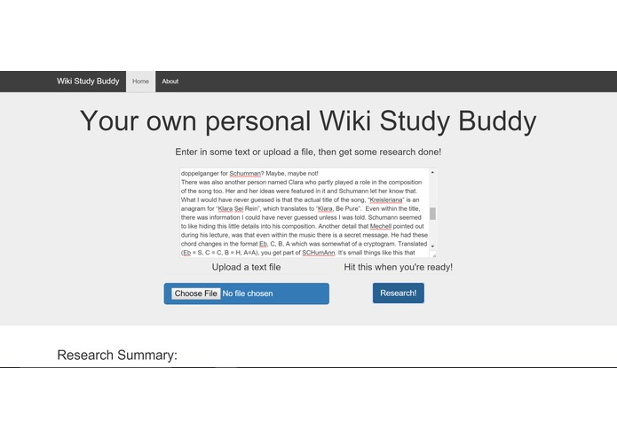 Wiki Study Buddy – screenshot 1
