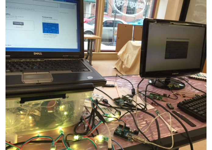 hashtag enabled led strip using rpi and arduino – screenshot 1