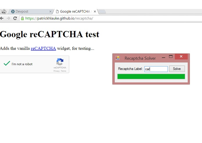 Google reCAPTCHA 'Breaker' - Powered by Clarifai | Devpost